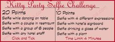 Kitty Party Selfie Challenge is one of the best Ladies Kitty Party Games. Playing this game in your kitty party will certainly bring great fun and laughter. Couple Party Games, Funny Party Games, Wedding Party Games, Adult Party Games, Birthday Party Games, Birthday Party Invitations, Ladies Kitty Party Games, Kitty Party Themes, Kitty Games