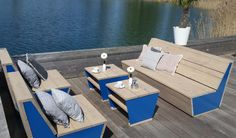 Lounge set Insula van Just Try Me - #tuin #tuinmeubels #loungeset #hout