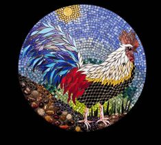 Two things I love: roosters & mosaics