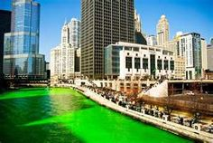 The city of Chicago really does dye the Chicago river kelly green every March 17th. The resulting color is a delightful reminder that spring is right around the corner!