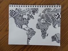 World Map Zentangle by createwithcolor on deviantART