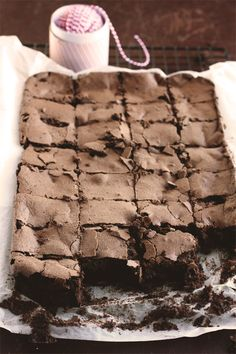 Chocolate And Assam Tea Prune Brownies.  Adapted from Bourke Street Bakery's recipe.