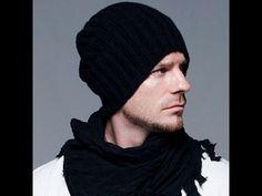 Knitted fashion hat spokes-detailed master klass.Shapka Bekhema.Prostaya, Men's hats. - YouTube