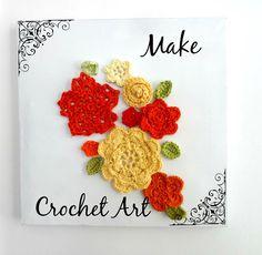 DIY idea for crochet art