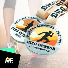 Our medals at desert-located Hero Run.  #modernforms #bespokemedals
