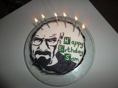 Breaking Bad Walter White Heisenberg cake decorating stencil