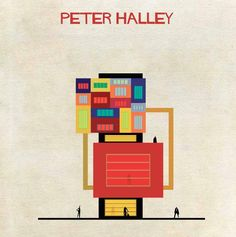PETER HALLEY - Revisité par FEDERICO BABINA - Architecte et Illustrateur -
