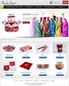 #Wedding #Accessories Website Design by FSC. www.shadisaman.com/