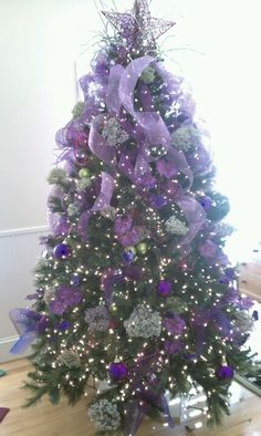 My purple Christmas tree.