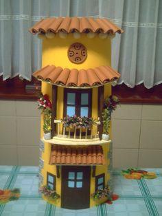 trabajos en tejas - Buscar con Google Diy Crafts Slime, Slime Craft, Diy Home Crafts, Craft Stick Crafts, Crafts To Make, Popsicle Stick Crafts, Pottery Houses, Ceramic Houses, Easter Arts And Crafts
