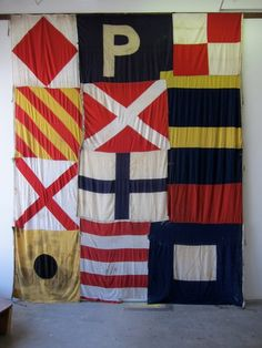 (interior styling) eclectic vintage flags