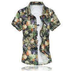 14 Colors 2018 Fashion Mens Short Sleeve Silk Hawaiian Shirt Plus Size Summer Casual Floral Shirts Men Mens Fashion 2018, Leggings Fashion, Short, Kids Outfits, Dress Outfits, Floral Shirts, Women Wear, Men Casual, Hawaiian