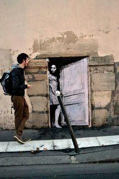 Arte callejero del artista Levalet, Paris