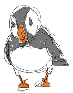I recently did a charcoal drawing of a puffin, so I had researched and sketched pictures of them. Quite frankly, I like how the sketch (whic...