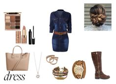"""""""blaze"""" by asoles2011 ❤ liked on Polyvore featuring MANGO, tarte, Stila, Marc Jacobs and Kahuna"""