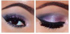 Purple eyeshadow.