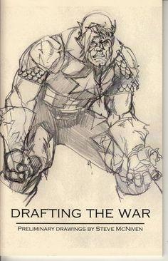 STEVE MCNIVEN 2007 RARE sketchbook Marvel Civil War Mint guardians of the galaxy