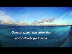 Right here waiting - Richard Marx - piano - Judyesther (with lyrics) Right Here Waiting, Richard Marx, Going Insane, Love Songs, Song Lyrics, Piano, Ocean, Day, Youtube