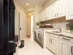 Mud Room & Laundry Storage - traditional - laundry room - calgary - by Michael Burr Design