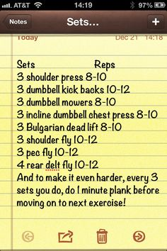 Awesome upper body workout!