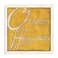 Choose Happiness Wall Art