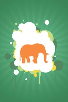 Vector Elephant Silhouette Android Wallpaper HD