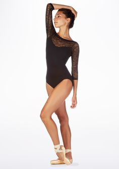 cd8d1fe0e1d2 So Danca Crop Sleeve Floral Lace Leotard - Move Dancewear® Lace Leotard,  Ballet Clothes