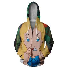 Alice In Cocoland Hoodie The Little Mermaid, Cool Shirts, Rain Jacket, Windbreaker, Alice, Hoodies, Cotton, T Shirt, Collection