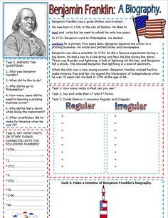Benjamin Franklin Reading Comprehension - My Reading Kids Christmas Piano Music, Benjamin Franklin, Reading Material, Kids Reading, Reading Comprehension, Fun Activities, Homeschooling, Worksheets, Classroom