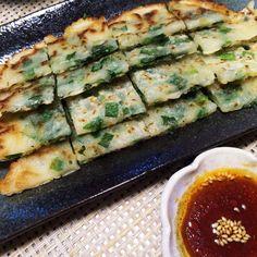 簡単に出来るので中華メニューの1品に♡小口切りにしたニラが食べやすくてチヂミの革命!つくれぽ1000件感謝です☆