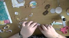 HEY LITTLE MAGPIE Scrapbooking Process Video - Create Embellishment