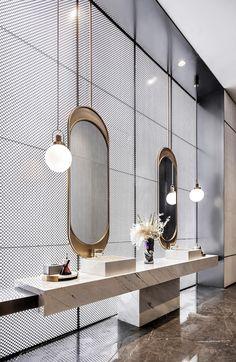 52 Awesome Small Bathroom Design Ideas for 2020 Modern Bathroom Decor, Bathroom Spa, Bathroom Toilets, Bathroom Interior, Small Bathroom, Modern Decor, Bathroom Lighting, 1920s Bathroom, Disney Bathroom