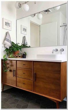 57 Likes, 0 Comments - West Elm Bathroom Renos, Bathroom Renovations, Small Bathroom, Master Bathrooms, Cream Bathroom, Shiplap Bathroom, Brown Bathroom, Remodel Bathroom, Rustic Bathroom Decor