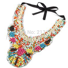 Fashion Euro Shining Colorful Beads All Handmade Women necklace Choker Necklace Collar Necklace for Women #Affiliate