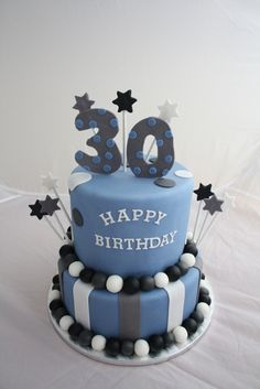 30th birthday cake ideas for him - Google Search