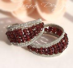 Garnet,Sterling Silver Wide Hoop Earrings | Flickr - Photo Sharing!