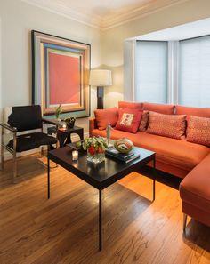 Awesome Wohnzimmer Orange Braun Photos - House Design Ideas ...