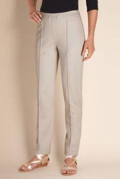 Skinny Stretch Pants - Stretch Knit, Flat Elastic Contour Waistband, All-seasons Pant | Soft Surroundings