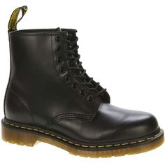 Dr. Martens Unisex 1460 Boot (8.080 RUB) ❤ liked on Polyvore featuring shoes, boots, black, military lace up boots, black lace up boots, military boots, laced up boots and black military boots