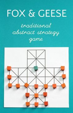 Fox and Geese is a Fun abstract strategy game from Northern Europe