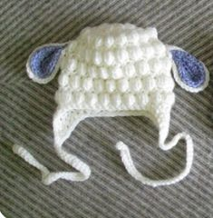 Crochet Projects Ideas Crochet Bubble Lamb Hat Free Pattern - You will love these Lamb Crochet Projects and we have included loads of free patterns for you to choose from. Lots of the cutest ideas in this collection. Crochet Kids Hats, Crochet Gifts, Cute Crochet, Crochet Clothes, Knitted Hats, Bobble Crochet, Crochet Beanie, Sombrero A Crochet, Knitting Patterns