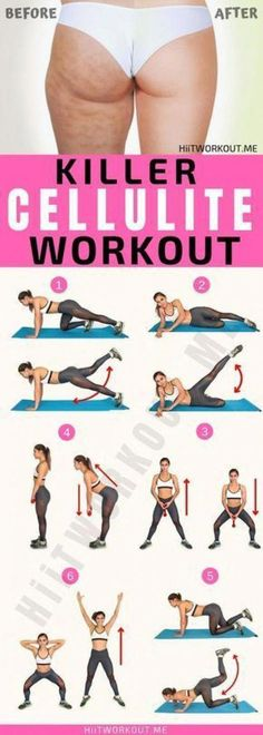 Here is the six best strength training exercises to reduce cellulite. They focus on the most cellulite-prone areas of your lower body including the glutes and thighs. Cellulite Wrap, Causes Of Cellulite, Cellulite Exercises, Cellulite Remedies, Reduce Cellulite, Anti Cellulite, Cellulite Workout, Thigh Cellulite, Workout Plan To Lose Weight
