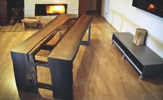 coffee table with bog oak 1600 years, one of a kind, handmade,