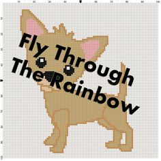 Cute crochet chihuahua graph graphgan chart 100x100 free shipping by FlyThroughTheRainbow on Etsy