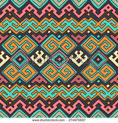 Seamless Ethnic Tribal Decorative Pattern. Vector Decorative Ornament. - stock vector