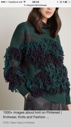 Interesting fashion knit sweater