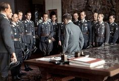 luftwaffe aces meet hitler after an awards ceremony