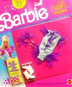 NEW ~ 1989 Barbie 50th Anniversary Ice Capades Fashions #4081