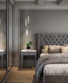 Awesome Luxury Bedroom Design Ideas You Must Have - A number of interior designers have had successes from previous designs that capture the plain white room into something that can distract an owner de. Luxury Bedroom Design, Master Bedroom Design, Interior Design, Bedroom Designs, Gray Interior, Bedroom Ideas For Couples Master Modern, Master Suite, Interior Livingroom, Blue Bedroom Decor