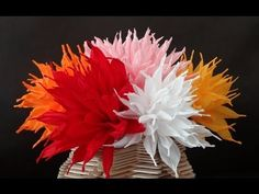 How to make beautiful paper flowers / DIY Valentine's day craft - YouTube